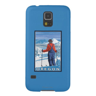 Skier Admiring- Vintage Travel Poster Galaxy S5 Cover