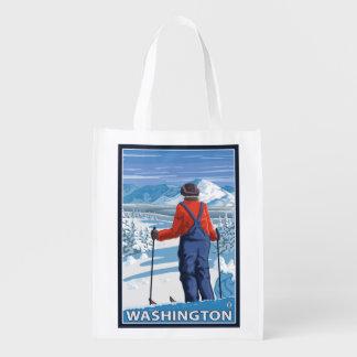 Skier Admiring - Washington