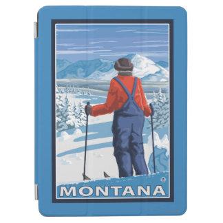 Skier AdmiringMontanaVintage Travel Poster iPad Air Cover