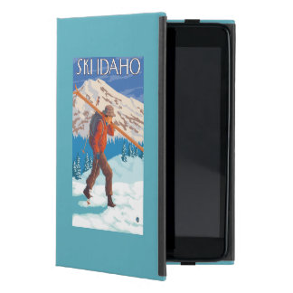 Skier Carrying Snow Skis - Idaho Cases For iPad Mini