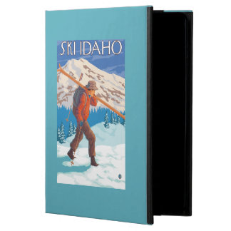 Skier Carrying Snow Skis - Idaho Cover For iPad Air