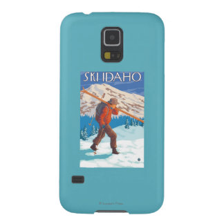 Skier Carrying Snow Skis - Idaho Galaxy S5 Covers