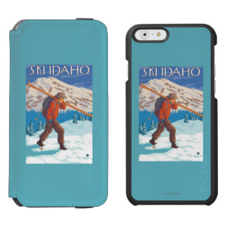 Skier Carrying Snow Skis - Idaho Incipio Watson™ iPhone 6 Wallet Case