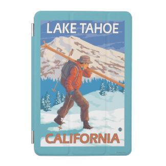 Skier Carrying Snow Skis - Lake Tahoe, Californi iPad Mini Cover