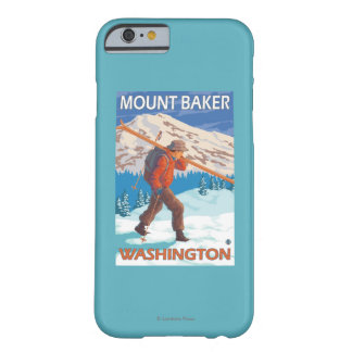 Skier Carrying Snow Skis - Mount Baker, WA Barely There iPhone 6 Case
