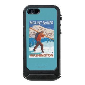 Skier Carrying Snow Skis - Mount Baker, WA Incipio ATLAS ID™ iPhone 5 Case