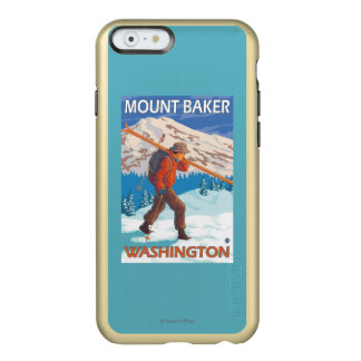 Skier Carrying Snow Skis - Mount Baker, WA Incipio Feather® Shine iPhone 6 Case
