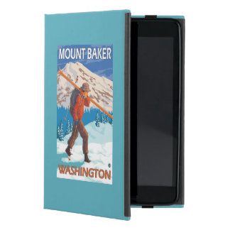 Skier Carrying Snow Skis - Mount Baker, WA iPad Mini Cover