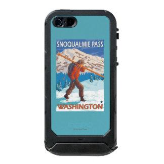 Skier Carrying Snow Skis - Snoqualmie Pass, WA Incipio ATLAS ID™ iPhone 5 Case