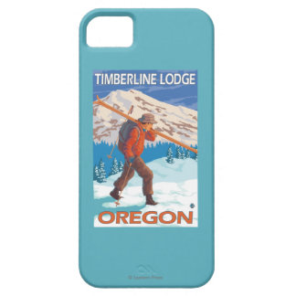 Skier Carrying Snow Skis - Timberline Lodge, OR iPhone 5 Covers