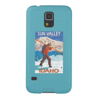 Skier Carrying Snow Skis- Vintage Travel 2 Case For Galaxy S5