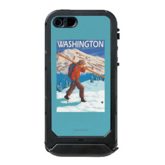 Skier Carrying Snow Skis - Washington Incipio ATLAS ID™ iPhone 5 Case