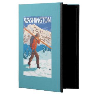 Skier Carrying Snow Skis - Washington iPad Air Cover