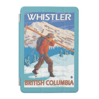 Skier Carrying Snow Skis - Whistler, BC Canada iPad Mini Cover