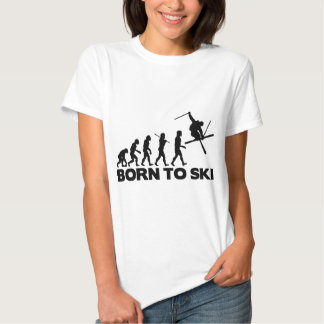 SKIER EVOLUTION BORN TO SKI 01.png Tshirts