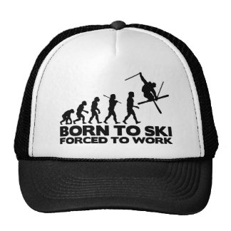 SKIER EVOLUTION BORN TO SKI FORCED TO WORK.png Cap