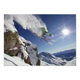 Skier in Midair Card