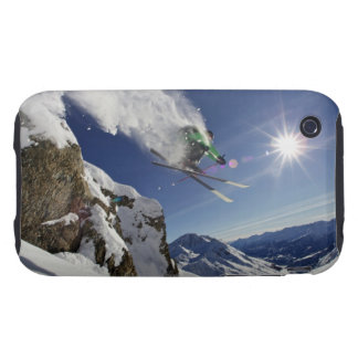 Skier in Midair Tough iPhone 3 Cases