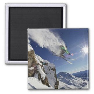 Skier in Midair Magnet