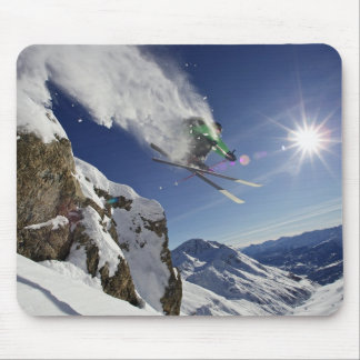 Skier in Midair Mouse Mat