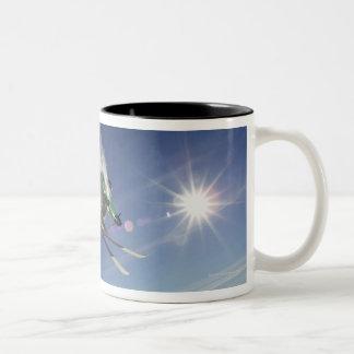 Skier in Midair Coffee Mug