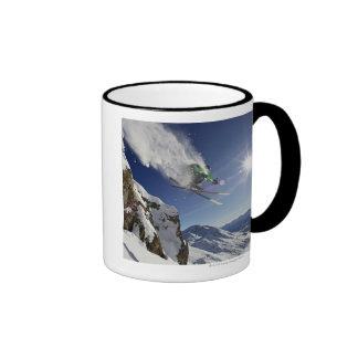 Skier in Midair Mugs