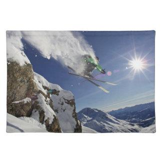 Skier in Midair Placemat