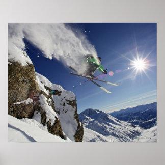 Skier in Midair Print