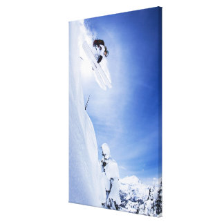 Skier Jumping 2 Canvas Print