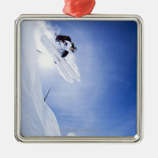 Skier Jumping Christmas Ornament