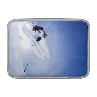 Skier Jumping MacBook Sleeve