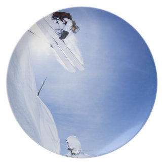 Skier Jumping Plate