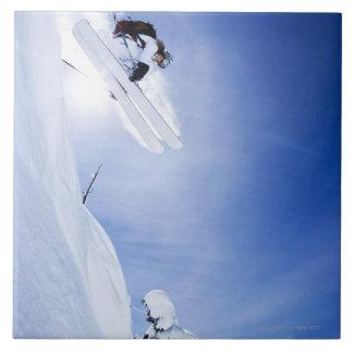 Skier Jumping Tile
