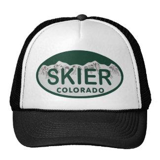 skier license oval cap