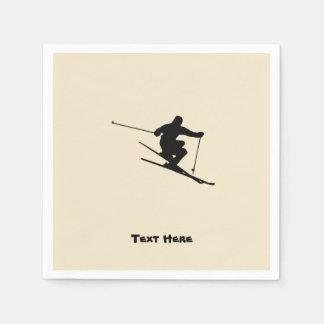 Skier Paper Napkins