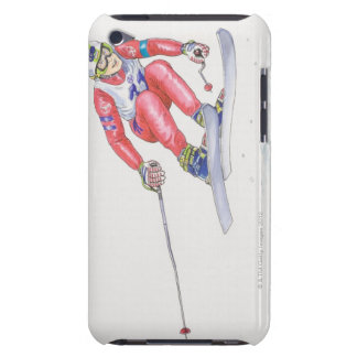 Skier Performing Jump 2 Barely There iPod Case