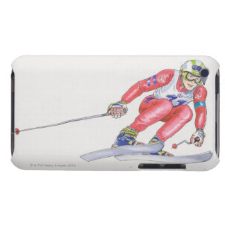 Skier Performing Jump 2 Barely There iPod Covers