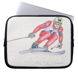Skier Performing Jump 2 Laptop Sleeve