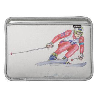 Skier Performing Jump 2 MacBook Sleeve