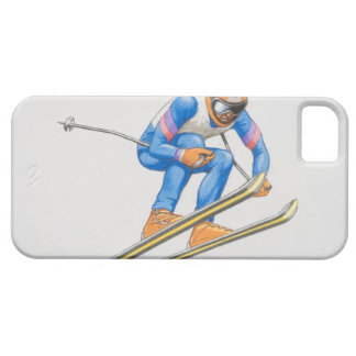 Skier Performing Jump iPhone 5 Cover