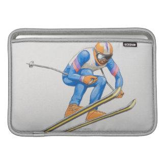 Skier Performing Jump MacBook Sleeve