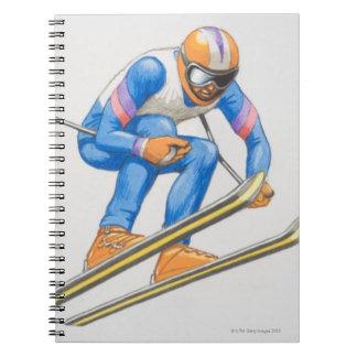 Skier Performing Jump Notebook