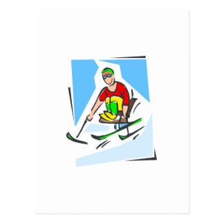 Skier Postcards