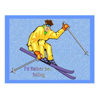 Skier Postcard