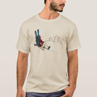 Skier relaxing on the mountain T-Shirt