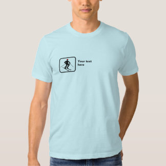 Skier -- Small Logo -- Customizable Shirt