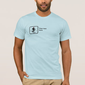 Skier -- Small Logo -- Customizable T-Shirt