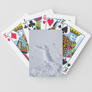 Skiers 2 bicycle playing cards
