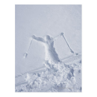 Skiers 2 postcard