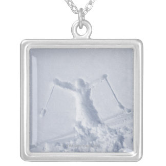 Skiers 2 silver plated necklace